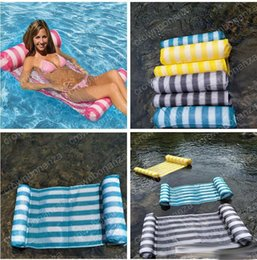 New 6 Colors Summer Inflatable Pool Float Swimming Floating Bed Water  Hammock Recreation Beach Mat Mattress Lounge Bed Chair Pool