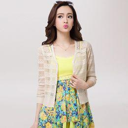 $enCountryForm.capitalKeyWord UK - Wholesale- Ultra-thin 2017 poncho summer cardigan sunscreen shirt women sweater cape shrug cutout lace cardigan feminino outerwear VR9