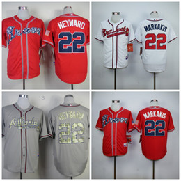 official photos 94711 da307 france braves 22 nick markakis navy blue alternate stitched ...