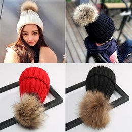 thanksgiving beanie babies 2018 - Fashion accessories Baby Hat Winter ball raccoon fur knitted hat Unisex wholesale high quality discount thanksgiving bea