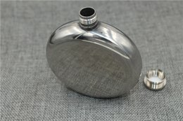 Hip Flasks Wholesale Canada - Personalized Wedding Gift Alcohol Whiskey Liquor Wine pot Drinkware 5 ounces Flasks Pocket Round Mirror Polished Stainless Steel Hip Flask