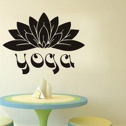 namaste yoga NZ - Yoga Wall Stickers Flowers Vinyl Adhesive Stickers Home Decor Namaste Lotus Wall Decals Bedroom Wall Art Murals