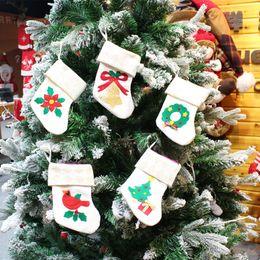 Best Gift For Xmas Australia - Christmas Stockings Decorations Xmas Tree Bell Wreath Cardinal Stocking Home Decorations 18*11cm Best Gifts for Christmas