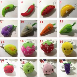 $enCountryForm.capitalKeyWord Australia - High quality New Fruit Plush Toys Strawberry Apple Cookies so Lipstick Chocolate Muffin Toys for Girl Dolls & Stuffed 50 PCS lot