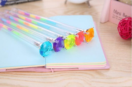 $enCountryForm.capitalKeyWord Canada - Mixed Bling Bling Diamond Crystal Rainbow Gel Pen Cute School Gel Pen For Students Kids Christmas Gift