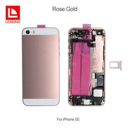 $enCountryForm.capitalKeyWord NZ - Back Battery Cover Housing With Flex Cable For iPhone SE Full Housing Assembly Metal Alloy Housing Chassis Middle frame fast free shipping