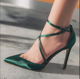 $enCountryForm.capitalKeyWord NZ - 2017 summer new women sexy pointed toe work pumps thin high heels woman cross tied buckle strap evening party wedding shoes