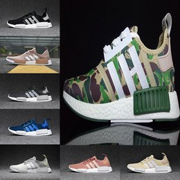 Femmes De Camouflage Femmes Pas Cher-2017 TopDownd Runner hommes femme Primeknit Camo Army Green Boost Cheap Sale Mode Chaussures de course Camouflage Casual Boosts Taille 36-44