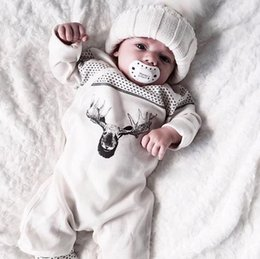 $enCountryForm.capitalKeyWord Canada - Ins 2017 Infant Baby Rompers Deer Printed Long Sleeve Cotton Jumper Boys Girls Toddlers Overalls Children Rompers 3276