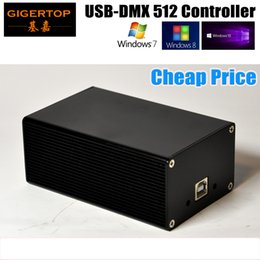 Usb compUter controller online shopping - Cheap Price HD512 Stage Light Controller Box PIN DMX Out Socket USB Cable Computer Control System Support Many Software Quman DMX512 TP D13