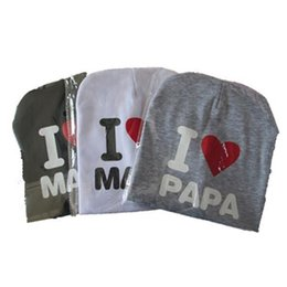 Chinese  Baby I love Mom And Dad Caps Infant Cotton Children Hats Beanies Cap for Toddler Boys Girls manufacturers