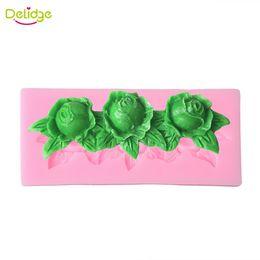 $enCountryForm.capitalKeyWord NZ - Delidge 20 pcs Rose Flowers Silicone Mold DIY Sugar Chocolate Cookies Candy Fondant Cake Decoration Tools Kitchen Bakeware