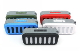 Portable Computer Speakers Canada - NR-2013 Stereo Portable Mini Wireless Bluetooth Speaker Support TF Card USB FM Hands-free HIFI Loudspeak for MP3 iphone Computer Smartphone