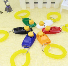 Wholesaler Training Canada - New Arrivals Pet Supplies Cat Puppy Button Dogs Clicker Training Cats With Retail Package Whole Sale #190