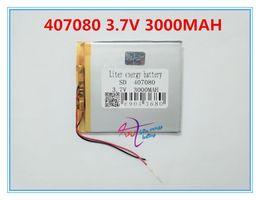 $enCountryForm.capitalKeyWord NZ - Hot selling 3.7V 3000 mAh Polymer Lithium Battery LiPo For GPS Tablet PC 407080
