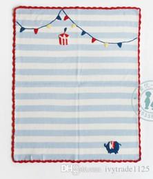 Discount fall bedding - INS Baby 100% Blankets Baby kids INS 65x75CM Nursery Bedding Cartoon stripped flower Print Swaddling Kindergarten childr
