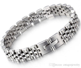 Link Two Canada - Watch Band Style 10mm Width 316L Stainless Steel Wristband Link Slim Lady's Elegency Bracelets,Two Choices,Free Gift Shipping