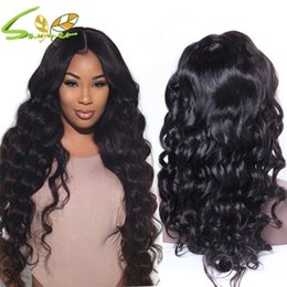 peruvian deep wave full lace wigs NZ - Top Quality Full Lace Wigs Deep Wave Virgin Lace Front Wig Peruvian Full Lace Human Hair Wigs With Baby Hair 150 Density