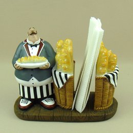 $enCountryForm.capitalKeyWord Canada - Wholesale- Housekeeper Figurine Tissue Holder Decor Resin Dinning Table Waiter Napkin Stand Ornament Craft for Home, Restaurant and Cafe