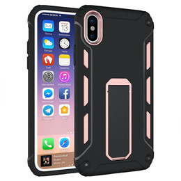 Chinese  For Iphone XS Case Armor Hybrid Soft tpu hard PC Back Cover with Kickstand For Iphone XS Samsung S8 8plus manufacturers