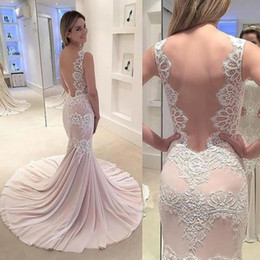 $enCountryForm.capitalKeyWord Australia - Double Straps Lace African Mermaid Prom Dresses Evening Gowns For Party Trumpet Court Train Sleeveless Elegant Evening Dresses