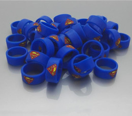 new vape band 2019 - New Vape Band Silicone Rings with Superman Batman Flash Captain America Logo Colorful Rubber Rings fit RDA RTA Atomizer
