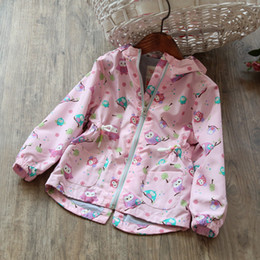 Barato Moda Meninas Coreano Meninas-Everweekend Kids Girls Pink Cute Animals Zipper Outwears Casacos Western Fashion Vintage Korea Children Coats