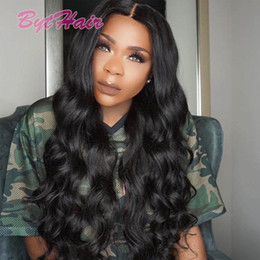 Barato Melhores Corpos De Mulheres Negras-Bythair Best Lace Front Cabelo Humano Perucas Glueless Full Lace Wigs 100% Brazillian Virgin Cabelo Humano Body Wave Wavy Wigs For Black Women