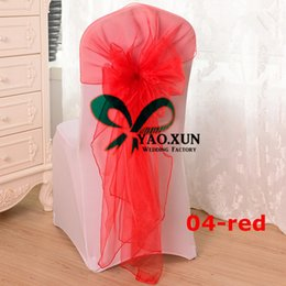 $enCountryForm.capitalKeyWord Canada - Facotry Price Organza Chair Hood \ Chair Sash Fit On Banquet Wedding Chair Cover