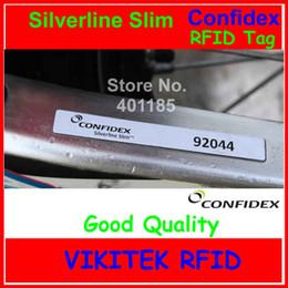 Rfid Print Australia - Wholesale- Confidex Silverline slim UHF RFID tag 915M EPC C1G2 ISO18000-6C versatile all surface rfid label with industry leading printing