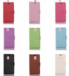 cases for flip phones 2019 - Litchi Wallet Leather Pouch For Asus Zenfone 3S MAX ZC521TL Sony Ericsson Xperia XA1 Ultra XZ   L1 Premium Flip Card Sta