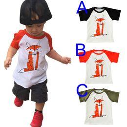 Branded Baby Kids Clothes Australia - Cartoon Fox Boy Girl T Shirt 2017 New Brand Toddler T-shirt Summer Style Fashion Cute Animal Short Sleeve Baby Tshirts Tops Kids Clothes