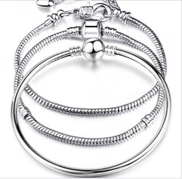 23cm Silver Bracelets Australia - 925 silver store,17-23cm silver plated bracelet with logo,plated charms bracelet chain