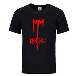 $enCountryForm.capitalKeyWord Canada - Classic Marilyn Manson Rock T Shirt Mens Men Tshirt 2019 Short Sleeve Cotton Casual T-shirt Tee Camisetas Hombre