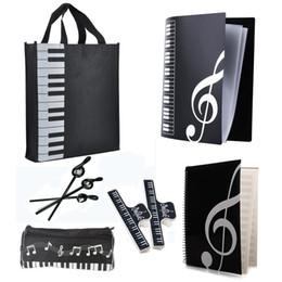 $enCountryForm.capitalKeyWord Canada - New Music Art Students Study Set Music Stationery Set School Study Set With Large Capacity Bag Keyboard Pattern