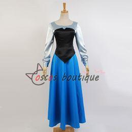 Adult Girl Halloween Costumes Canada - custom made The Little Mermaid Princess Ariel dress blue Adult girl cosplay costume halloween