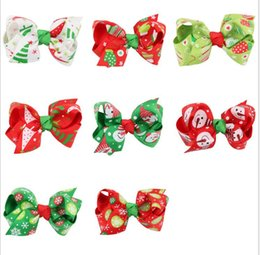 Barato Acessórios Para O Cabelo Infantil Princesa-Natal Halloween Infant Baby Girls Princesa Bow Barrettes Toddler Flor Ribbon Ribbon Bowknot Heads 2017 Children Hair accessories