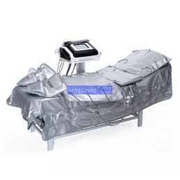 Vente en gros 3 en 1 pressothérapie infrarouge chaleur minceur enveloppement vêtements pression massager circulation sanguine EMS Stimulation Musculaire Électrique minceur équiper