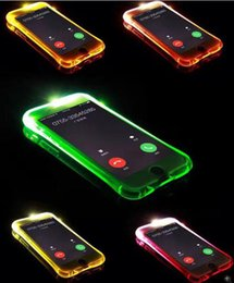 Samsung Galaxy On5 Cases Covers Canada - LED Flash Light Up Airbag Case For Samsung Galaxy 2017 A3 A5 A7 J5 Prime J7 Prime On5 2016 OPPO A57 A59 A37 A39 Soft Bling incoming Cover