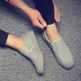 Spring Fall Canvas Shoes Australia - Free delivery of spring and autumn, new men's platform shoes, leisure canvas shoes, four colors, a complete 39-44