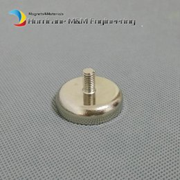 $enCountryForm.capitalKeyWord NZ - 50 pcs Mounting Magnet Diameter 48mm Clamping Pot Magnet with Male Thread Neodymium Lifting Permanent Holding Magnet