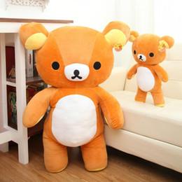 Bear Baby Animals Canada - Wholesale 35cm Teddy Bear Stuffed Plush Animals Plush Soft Doll Baby Birthday Gift Kids Toys Fast Shipping