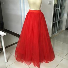 $enCountryForm.capitalKeyWord Canada - Red Floor Length Bridesmaid Dress Soft Tulle Overskirt Long Dress Formal Dresses Real Image Custom Colors Petticoats Satin Waistband