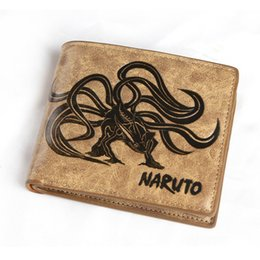 China HOT Sale Anime Naruto,One Piece,Fairy Tail, Guilty Crown Khaki Color PU Leather Embossed Folding Wallet Coin Purse supplier zipper style crown wallet suppliers