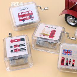 London Gifts Canada - Hand Operated Music Box Creative Design British Style I Love London Portable Mini Case Small Gift Home Decor 10fg F R