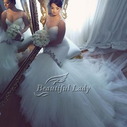 $enCountryForm.capitalKeyWord Canada - Sexy 2017 Ivory Mermaid Wedding Dress Sexy Spaghetti Straps Sweetheart Backless Rhinestone Tull Long Bridal Wedding Gowns Vestido De Noiva