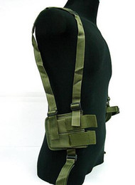 Wholesale magazine quality resale online - Adjustable Tactical Shoulder Pistol Gun Armpit Holster Magazine Pouch Bag Camping Hunting Belt Duty High Quality