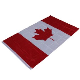 China 87*148cm Canadian Flag - Polyester Canada Country National Flags - Maple Leaf Banner Outdoor Indoor Flag For Decor Activity Parade cheap canada flags suppliers