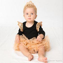 $enCountryForm.capitalKeyWord NZ - Summer Clothes Sets Infant Baby Children Kids Girls3 pcs Sets(Hair Band+Ramper+skirt)Soft Cotton Clothes Set Lace Tutu skirts Clothing Sets