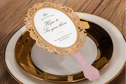 $enCountryForm.capitalKeyWord Canada - Wholesale-200pcs lot Wedding Invitations Love Mirror Wedding Invitation Cards Engagement Gatefold Invites Wedding Supply #CW5096